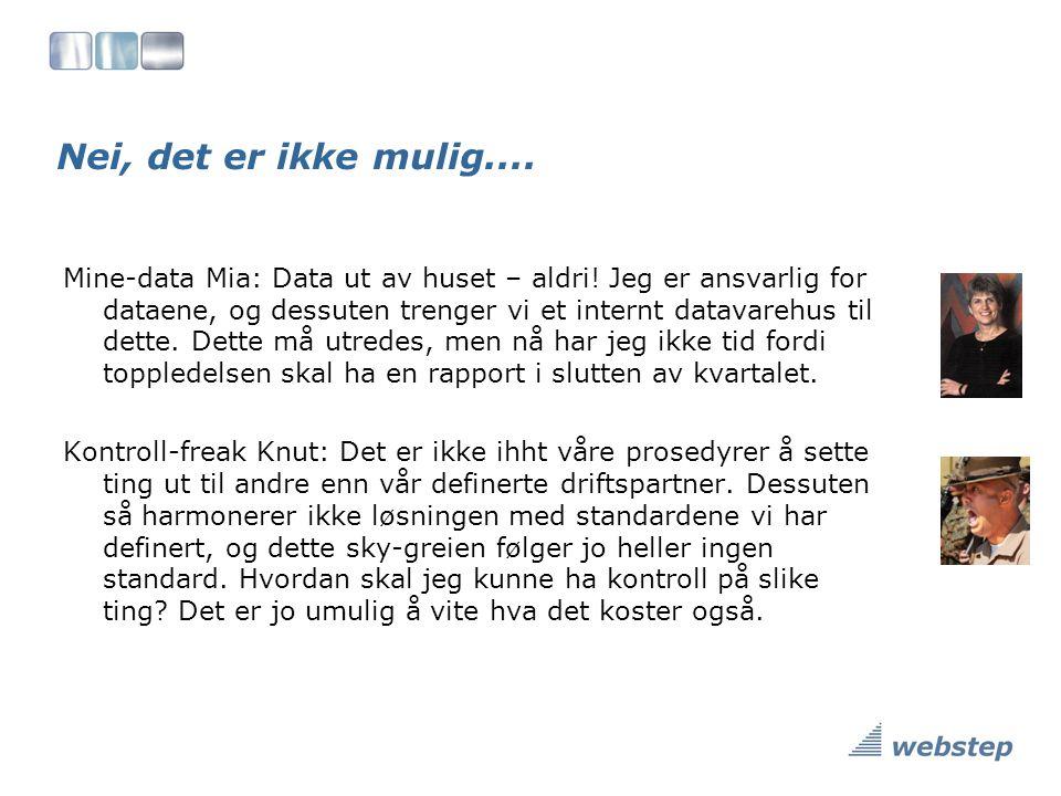 Nei, det er ikke mulig....Mine-data Mia: Data ut av huset – aldri.