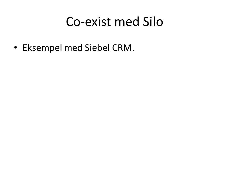 Co-exist med Silo Eksempel med Siebel CRM.