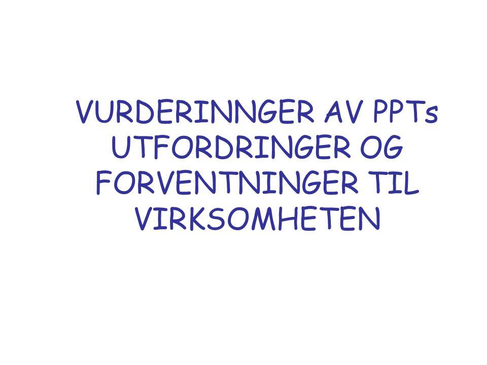 VURDERINNGER AV PPTs UTFORDRINGER OG FORVENTNINGER TIL VIRKSOMHETEN