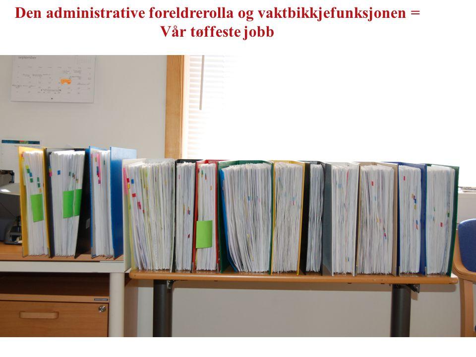Den administrative foreldrerolla og vaktbikkjefunksjonen = Vår tøffeste jobb