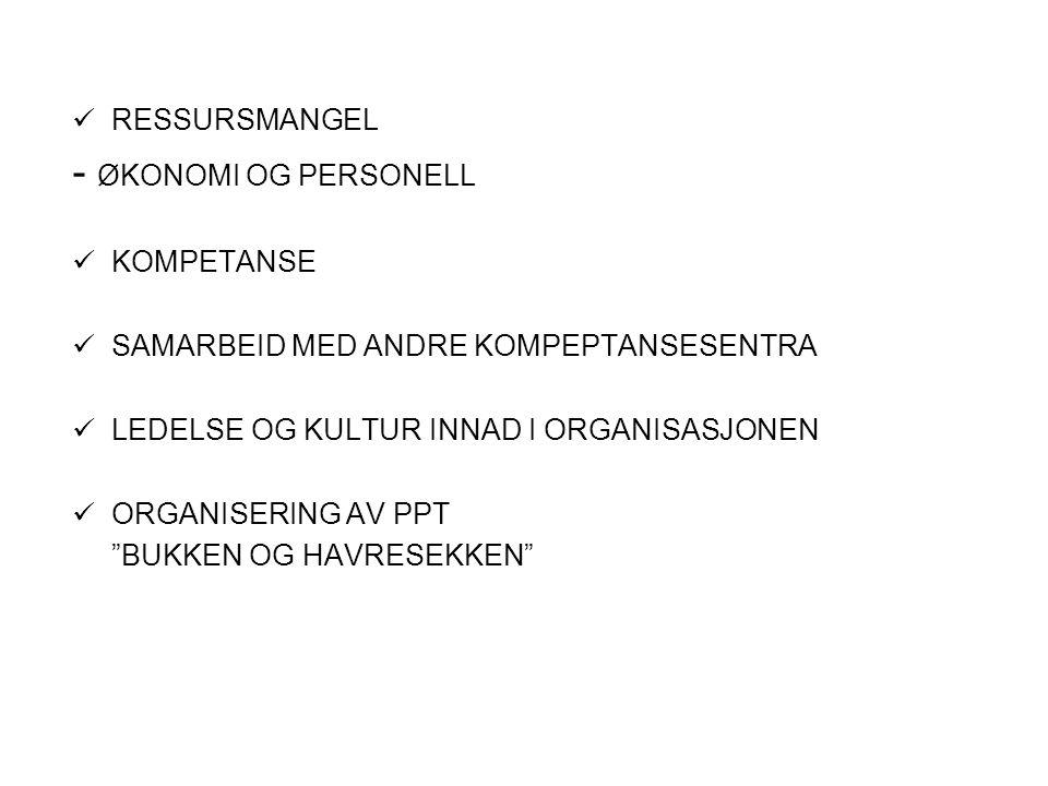 VEIEN VIDERE.PPT = NØKKELVIRKSOMHET HØY KOMPETANSE INTERNT – KONTINUERLIG I UTVIKILING.