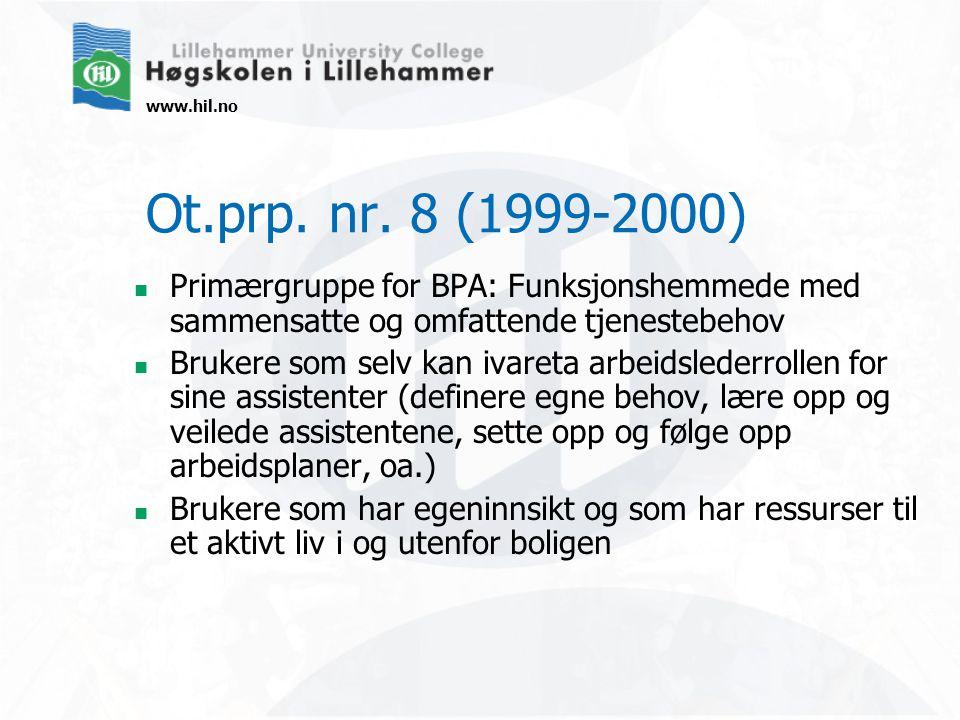 www.hil.no Ot.prp. nr.
