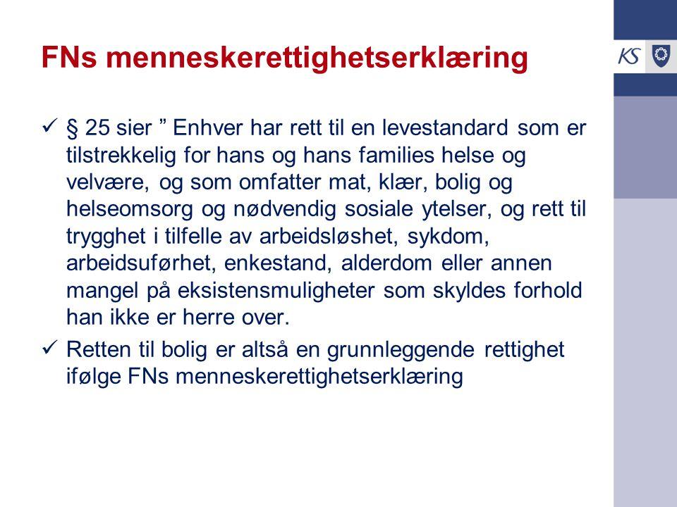 Ikke juridisk rett til bolig i Norge I Norge har man ikke juridisk rett til bolig.