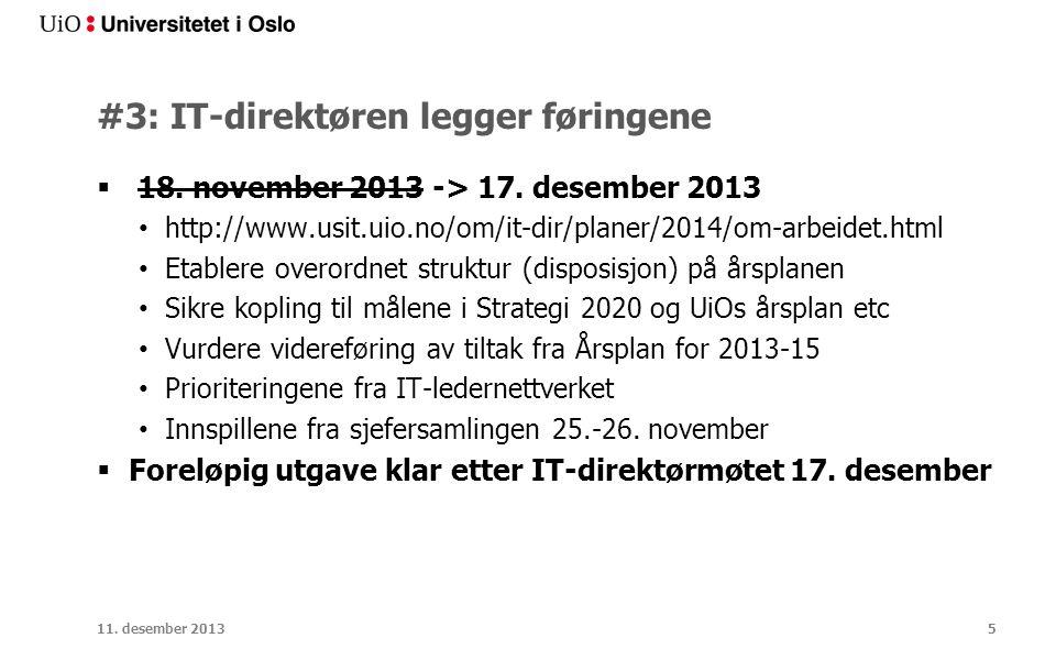 #3: IT-direktøren legger føringene  18. november 2013 -> 17.