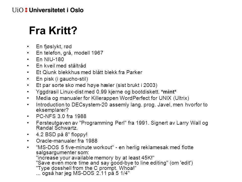 Fra Kritt.
