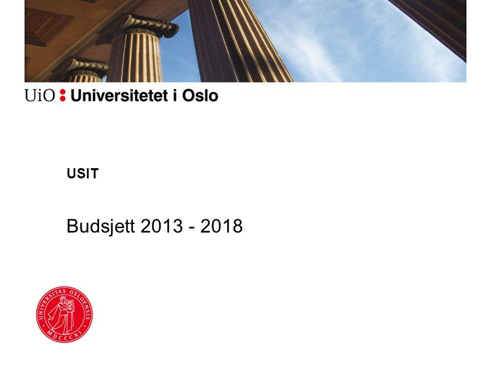 USIT Budsjett 2013 - 2018