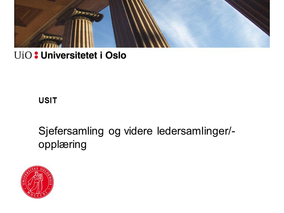 USIT Sjefersamling og videre ledersamlinger/- opplæring