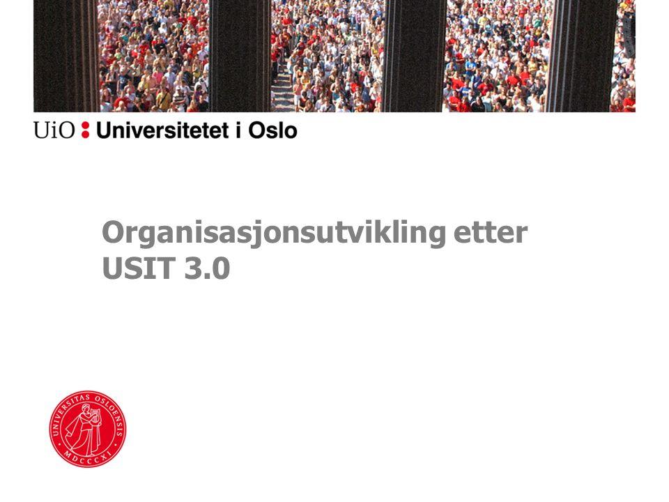 Organisasjonsutvikling etter USIT 3.0