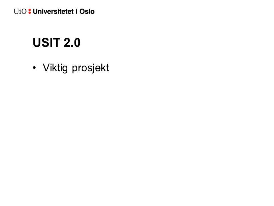 USIT 2.0 Viktig prosjekt