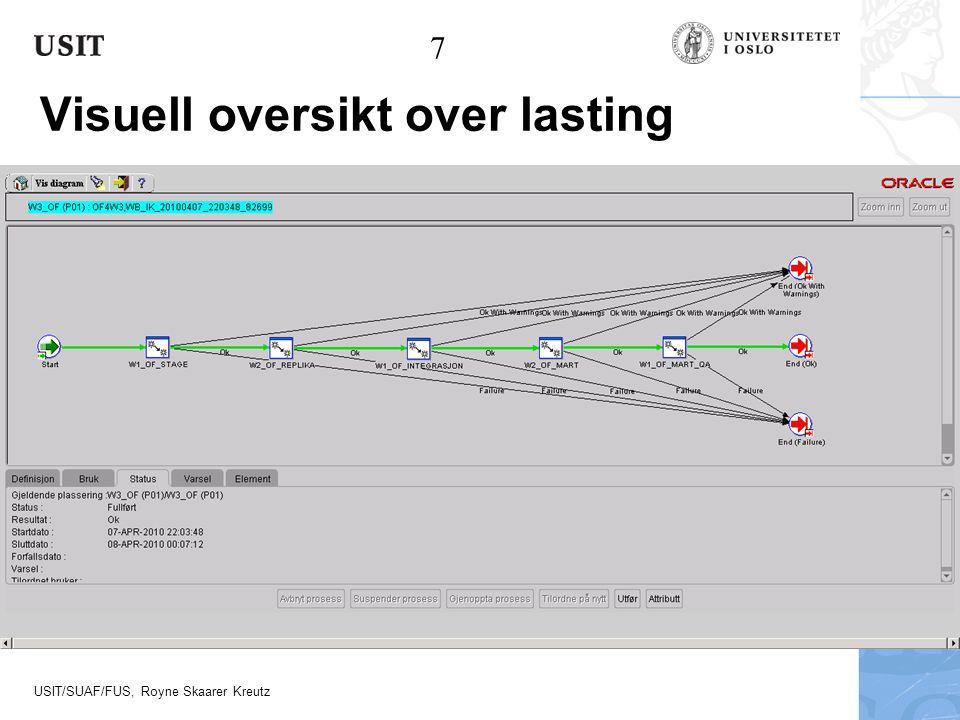 USIT/SUAF/FUS, Royne Skaarer Kreutz Visuell oversikt over lasting 7