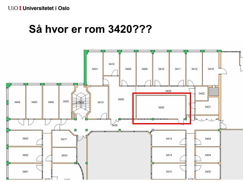 Så hvor er rom 3420???