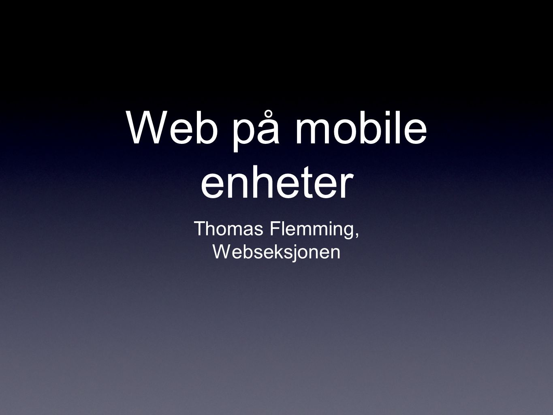 Kun støtte WebKit.