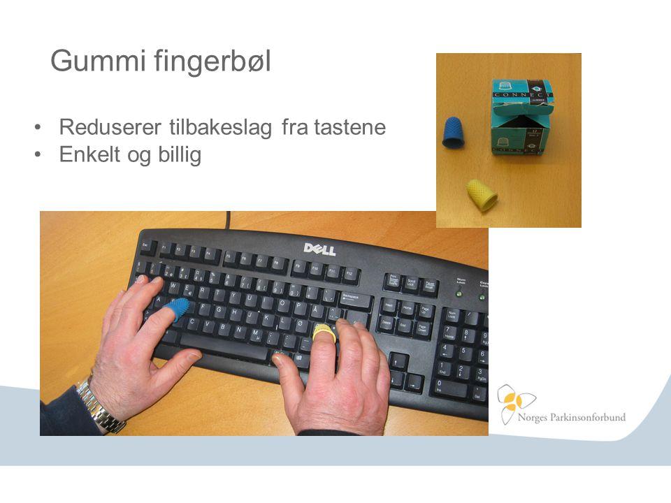 Gummi fingerbøl Reduserer tilbakeslag fra tastene Enkelt og billig
