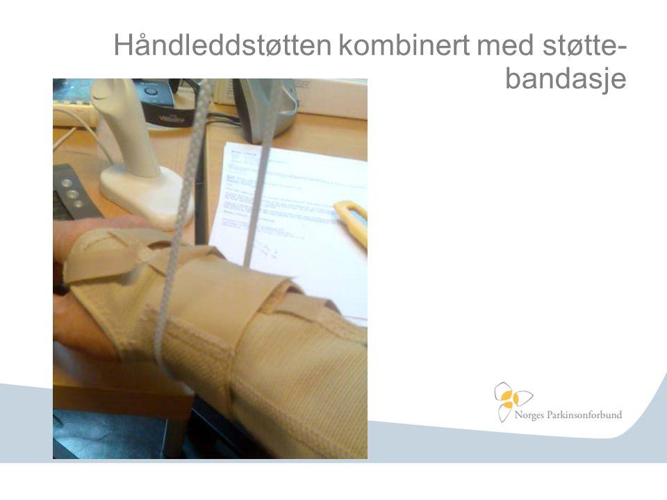 Håndleddstøtten kombinert med støtte- bandasje