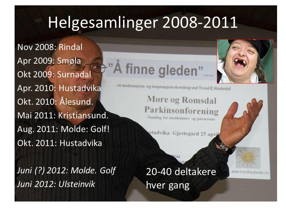 Helgesamlinger 2008-2011 Nov 2008: Rindal Apr 2009: Smøla Okt 2009: Surnadal Apr.