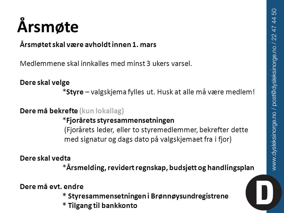 Årsrapportering Innen 15.