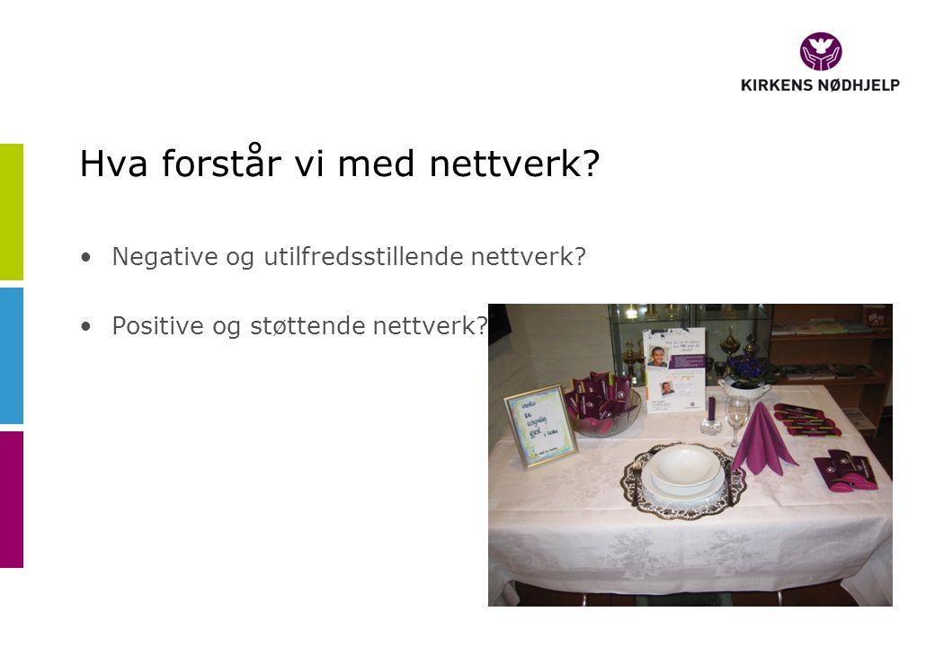 Hva forstår vi med nettverk. Negative og utilfredsstillende nettverk.