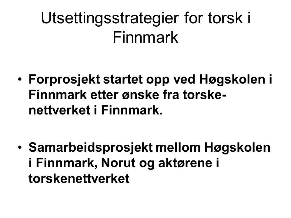 Målsetting Samle inn og oppsummere tilgjengelige litteraturdata om utsett av settefisk av torsk.