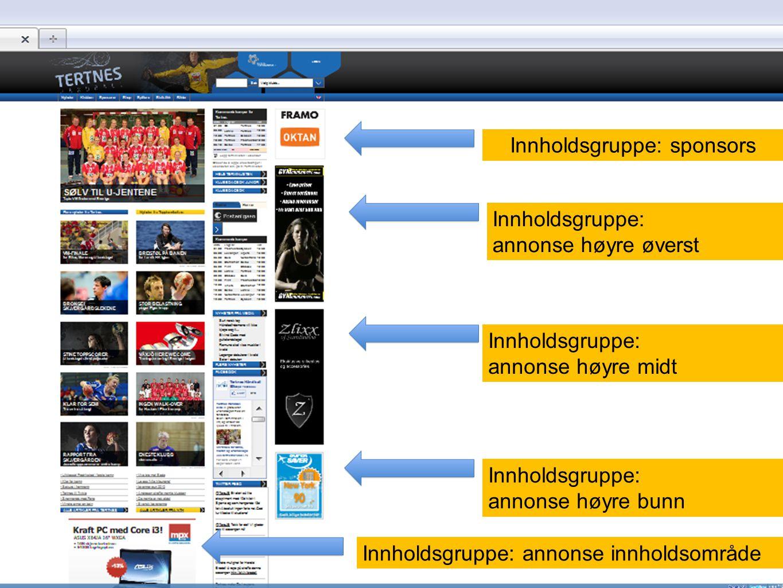 sponsors Opprette en artikkel som du gir overskriften sponsors (valgfritt hva du velger som overskrift men dette gjør den enkel å huske/finne igjen) Last opp logoer som bilder etc (resurser), tag dem med logo , og skriv firmanavn og klubb i tekst feltet.