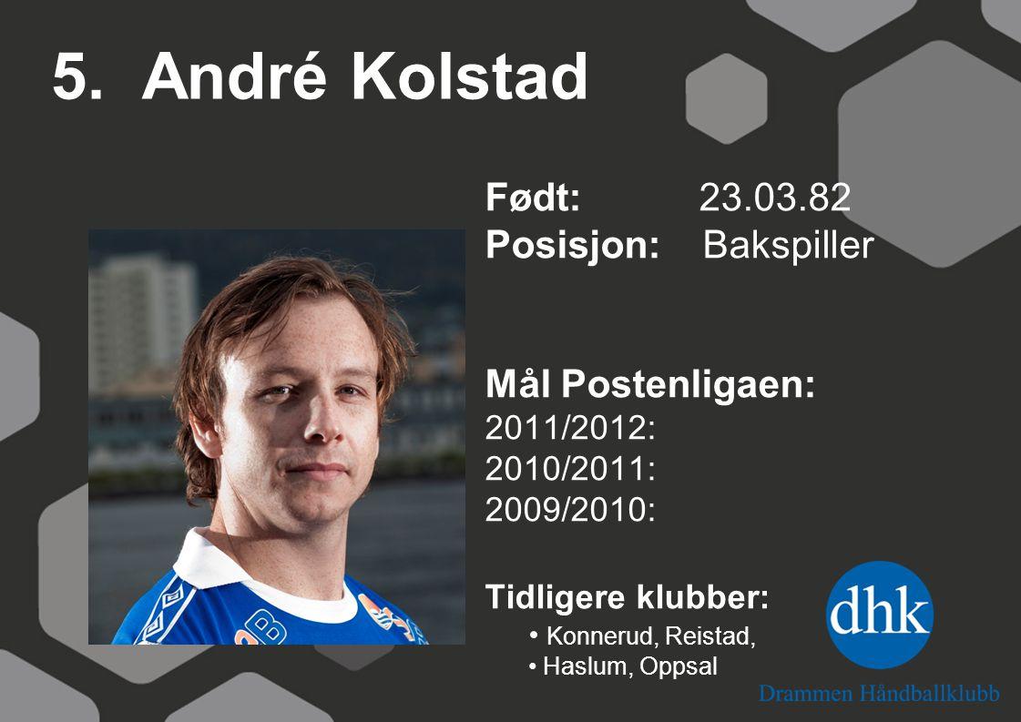 Espen Fossli Olaussen Født: 11.11.80 Posisjon: Video/analyse Tidligere klubber:
