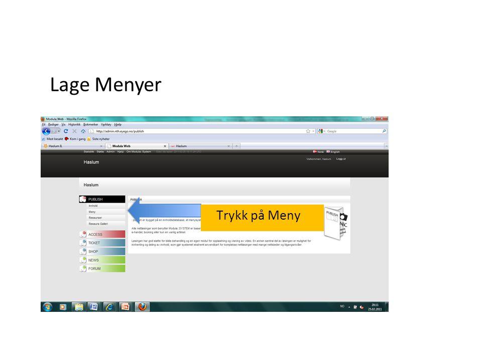 Gå til Meny. Klikk New Extern link