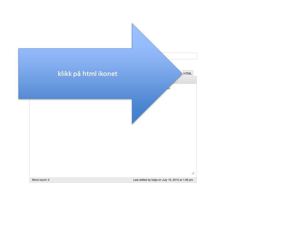 [iframe url= http://www.mytutorialz.wordpress.com/ width= 500 height= 300 scrolling= no frameborder= 0 marginheight= 0 ] lim inn kodesnutten og fjern i slutten og erstatt med [ og ] (kopier herfra om du ikke finner tegnene på tastaturet) Dersom denne framen gjelder for en annonse i sidebar, kan width og height fjernes For bruk i artikkel bør width settes til 500, for annonsen nederst på siden til 1000