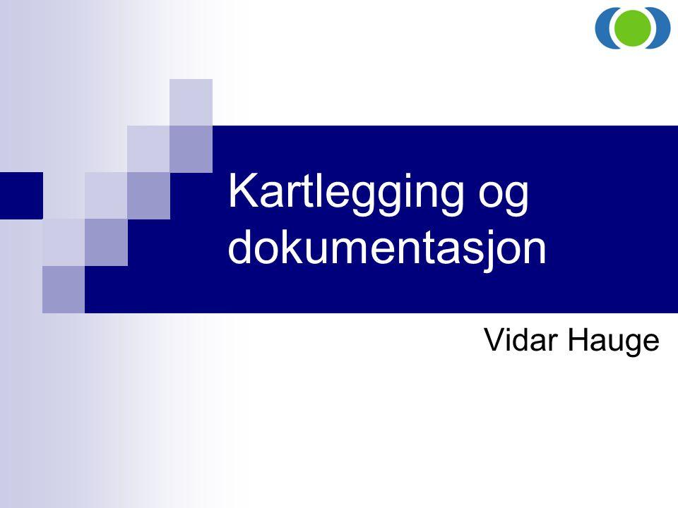 Kartlegging og dokumentasjon Vidar Hauge
