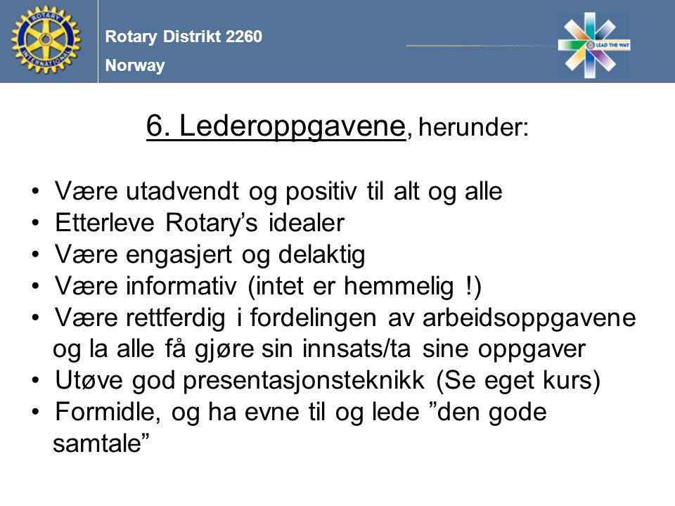 Norway Rotary Distrikt 2260 6.