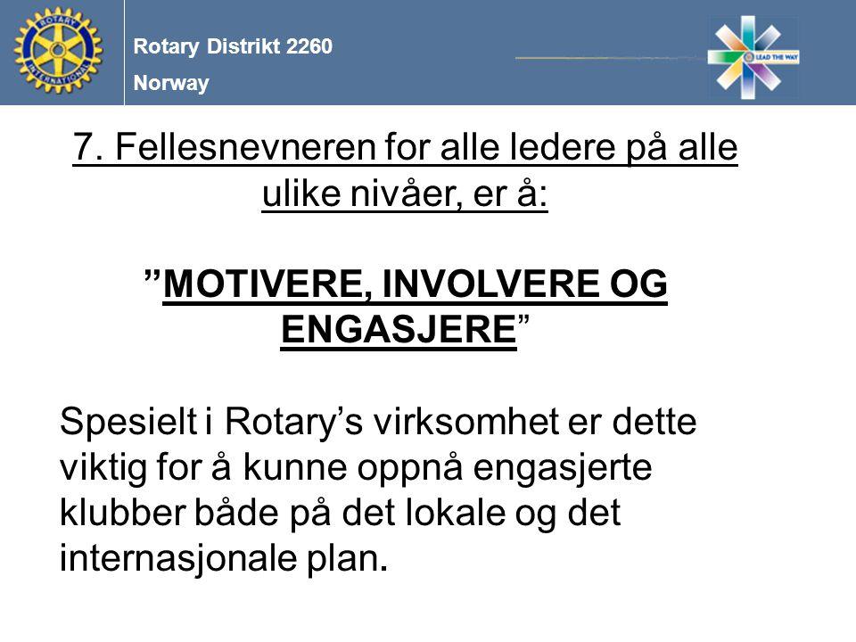 Norway Rotary Distrikt 2260 8.Etikk.