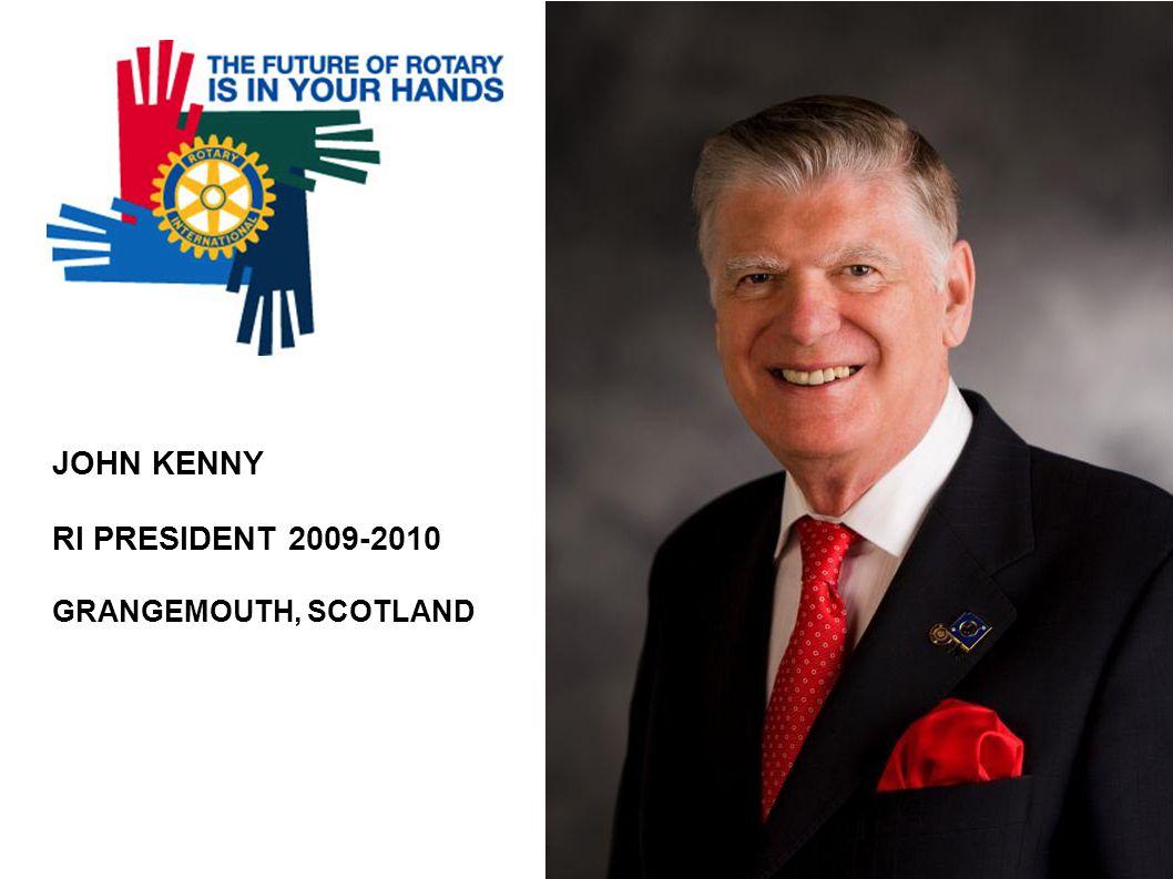 JOHN KENNY RI PRESIDENT 2009-2010 GRANGEMOUTH, SCOTLAND