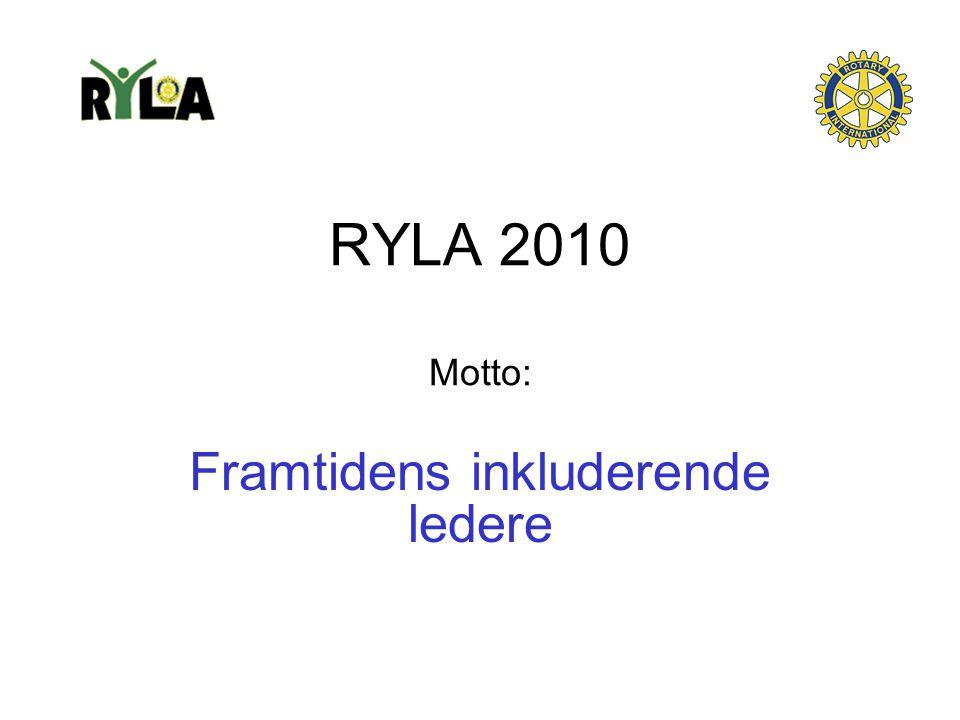 RYLA 2010 Motto: Framtidens inkluderende ledere