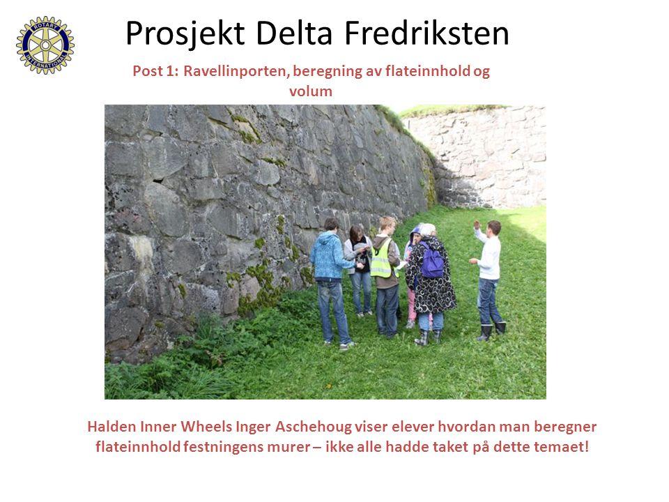 Halden Inner Wheels Inger Aschehoug viser elever hvordan man beregner flateinnhold festningens murer – ikke alle hadde taket på dette temaet! Post 1: