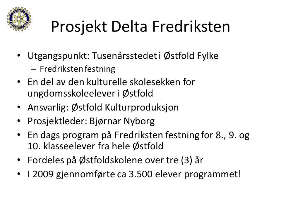 Lunsj på Festningskroa's terrasse Prosjekt Delta Fredriksten En velfortjent og sosialt samlende lunsj for Rotarianere og Inner Wheelere!.
