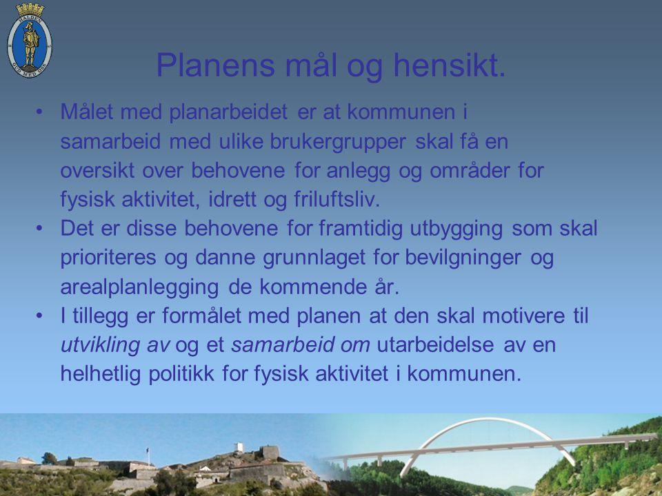 Planens mål og hensikt.