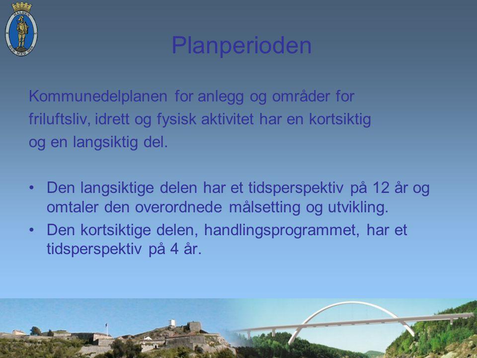Planperioden Kommunedelplanen for anlegg og områder for friluftsliv, idrett og fysisk aktivitet har en kortsiktig og en langsiktig del.
