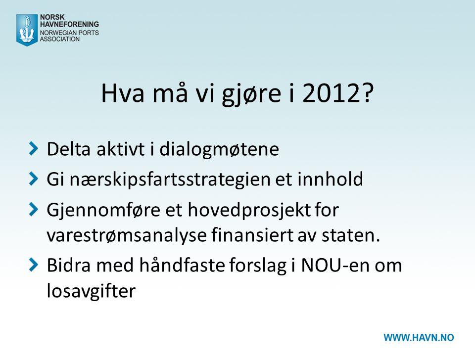 Hva må vi gjøre i 2012.