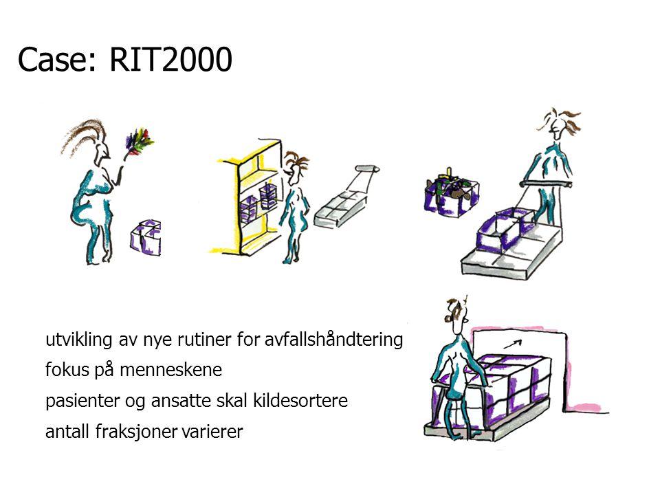 Case: RIT2000 utvikling av nye rutiner for avfallshåndtering fokus på menneskene pasienter og ansatte skal kildesortere antall fraksjoner varierer