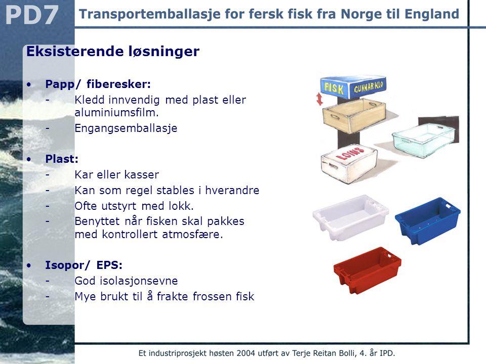 Brukere Primærbruker: - Arbeidere hos sjømatprodusentene -Begge kjønn -16-67 år -Erfaring med lignende objekter Sekundærbruker: -Fiskehandlere i England som skal selge fisk rett fra transportemballasjen.