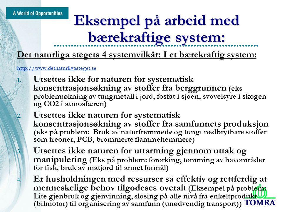 initials/subject/4 Eksempel på arbeid med bærekraftige system: Det naturliga stegets 4 systemvilkår: I et bærekraftig system: http://www.detnaturligasteget.se 1.