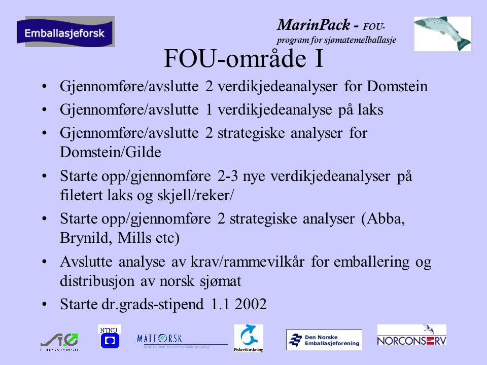 MarinPack - FOU- program for sjømatemelballasje FOU-område II .