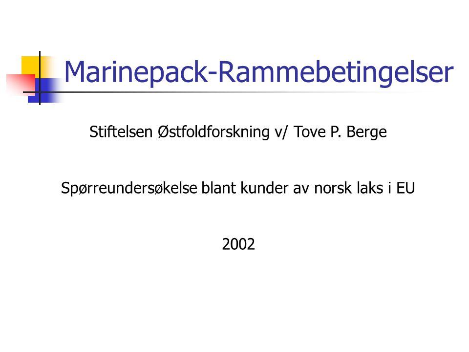 Marinepack-Rammebetingelser Stiftelsen Østfoldforskning v/ Tove P.