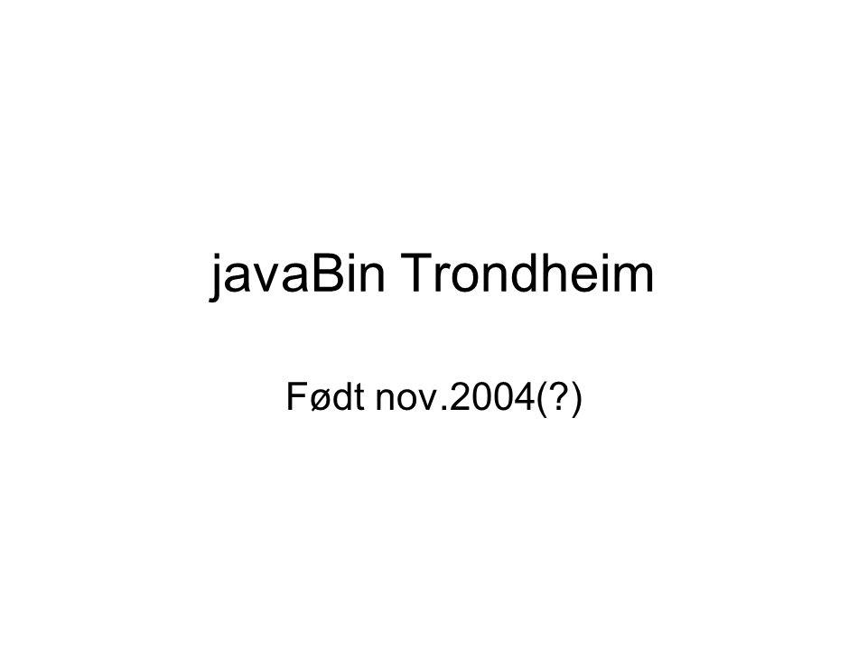 javaBin Trondheim Født nov.2004( )