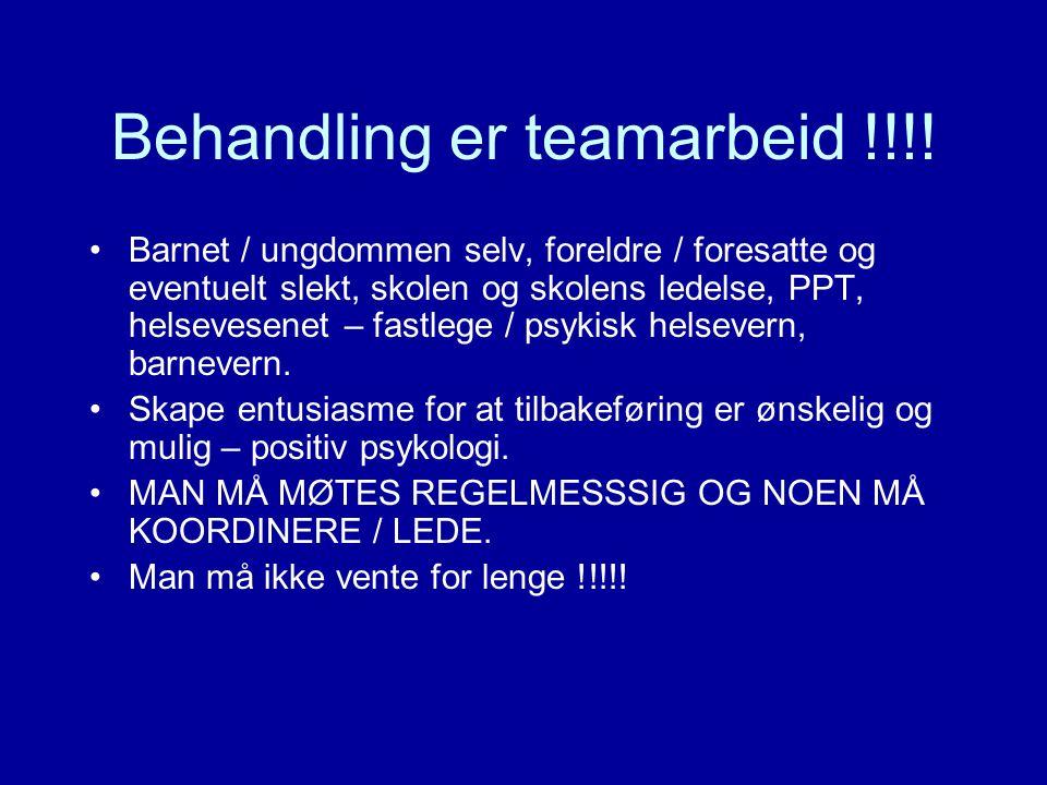 Behandling er teamarbeid !!!.