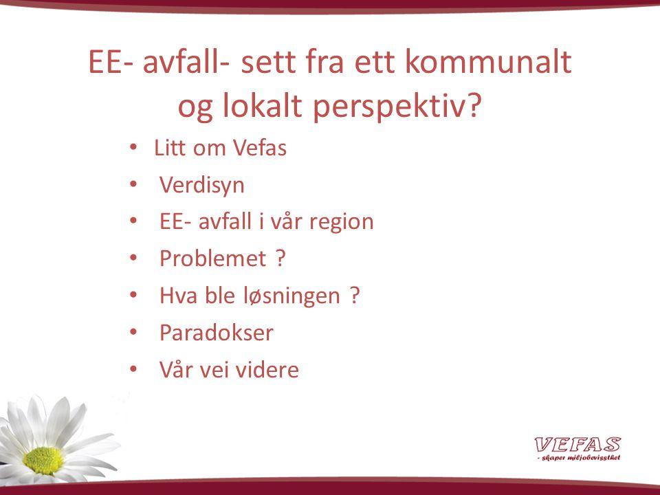 Litt om Vefas.35 ansatte inkl. datterselskap Samlet omsetning ca.