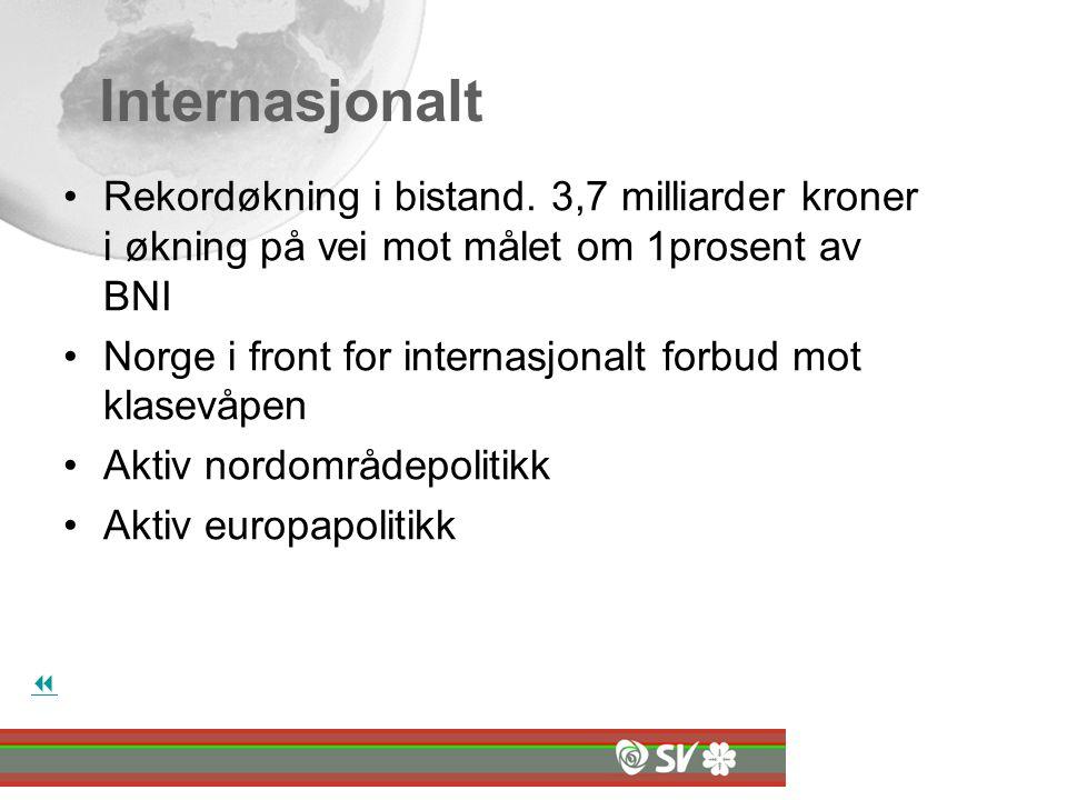 Internasjonalt Rekordøkning i bistand.