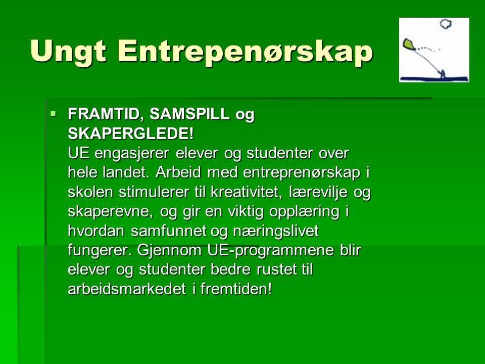 Ungt Entrepenørskap  FRAMTID, SAMSPILL og SKAPERGLEDE.