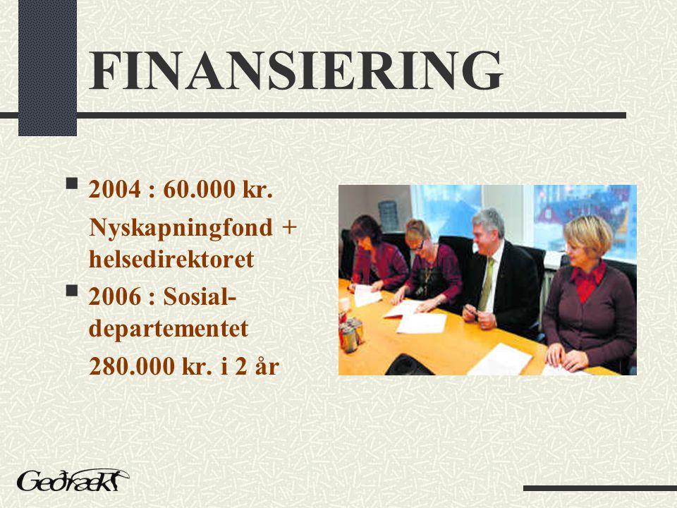 FINANSIERING  2004 : 60.000 kr.