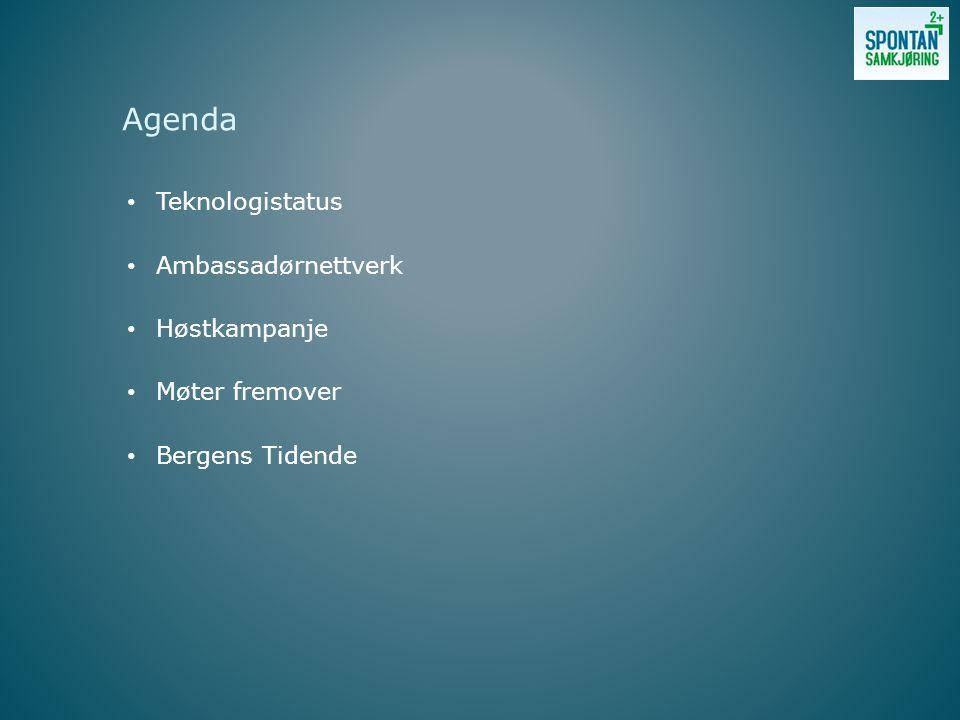 Teknologistatus Ambassadørnettverk Høstkampanje Møter fremover Bergens Tidende Agenda