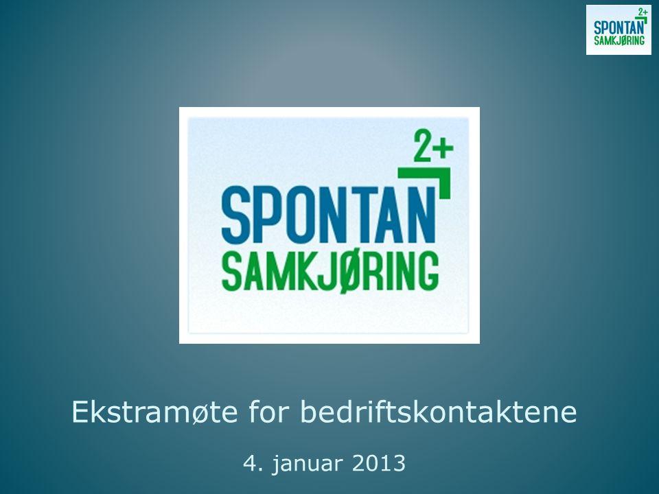Ekstramøte for bedriftskontaktene 4. januar 2013