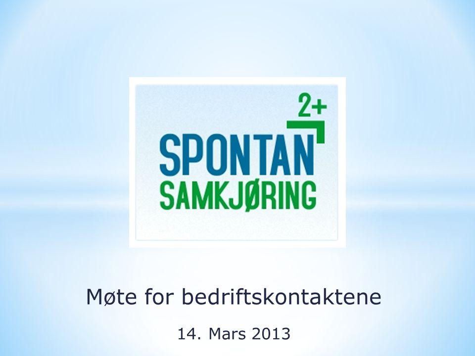 Møte for bedriftskontaktene 14. Mars 2013